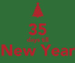 Poster:  35 days till New Year