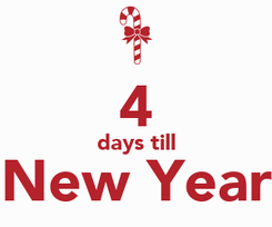 Poster:  4 days till New Year