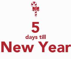Poster:  5 days till New Year
