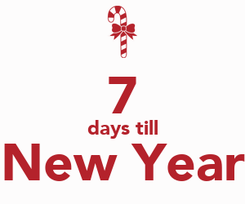 Poster:  7 days till New Year