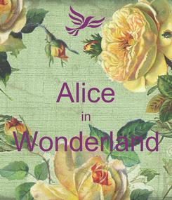 Poster:  Alice in Wonderland