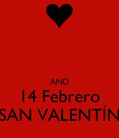 Poster:   AND 14 Febrero SAN VALENTÍN