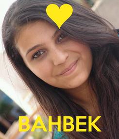 Poster:     BAHBEK