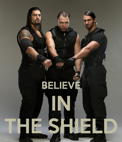 Poster:   BELIEVE IN THE SHIELD