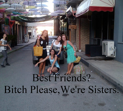 Poster:    Best Friends? Bitch Please,We're Sisters.
