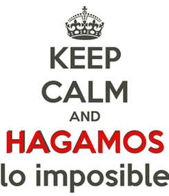 Poster:    HAGAMOS