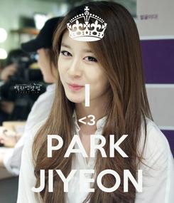 Poster:  I <3 PARK JIYEON