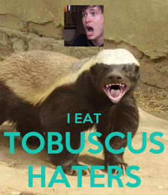 Poster:   I EAT TOBUSCUS HATERS