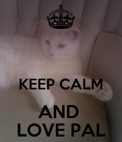 Poster:   KEEP CALM AND  LOVE PAL