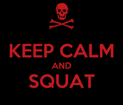 Poster:  KEEP CALM AND SQUAT
