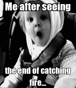 Poster:  Me after seeing  the end of catching fire...
