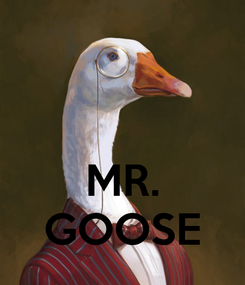 Poster:    MR. GOOSE