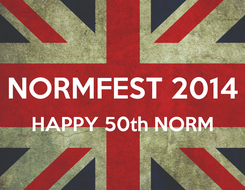 Poster:  NORMFEST 2014 HAPPY 50th NORM