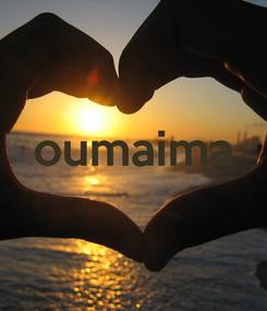 Poster:  oumaima