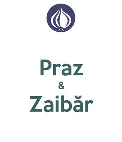 Poster:  Praz & Zaibăr