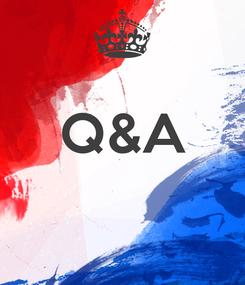 Poster:  Q&A