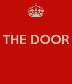 Poster:  THE DOOR