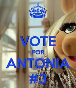 Poster:  VOTE FOR ANTONIA #3