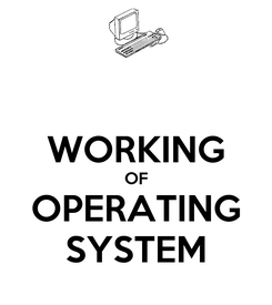 Poster:  WORKING OF OPERATING SYSTEM