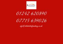 Poster: 01242 620890 07715 639026 info@detailedrefinishing.co.uk