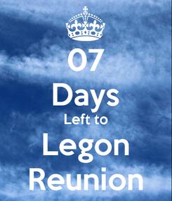 Poster: 07 Days Left to Legon Reunion