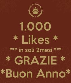 Poster: 1.000 * Likes * *** in soli 2mesi *** * GRAZIE * *Buon Anno*