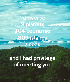 Poster: 1 universe