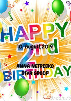 Poster: 10  August 2019    ANNA NETREBKO  DIVA GROUP
