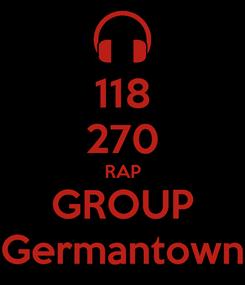 Poster: 118 270 RAP GROUP Germantown