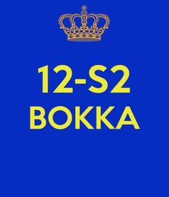 Poster:  12-S2 BOKKA