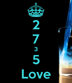 Poster: 2 7 3 5 Love