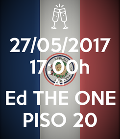 Poster: 27/05/2017 17:00h AT Ed THE ONE PISO 20
