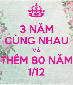 Poster: 3 NĂM CÙNG NHAU VÀ THÊM 80 NĂM 1/12