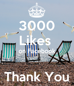 Poster: 3000 Likes  on Facebook  Thank You