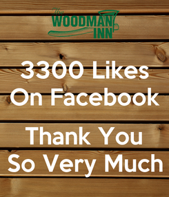 Poster: 3300 Likes On Facebook  Thank You So Very Much