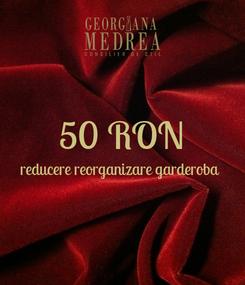 Poster:  50 RON reducere reorganizare garderoba