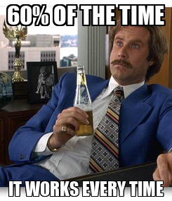 Poster: 60% OF THE TIME IT WORKS EVERY TIME