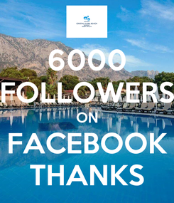 Poster: 6000 FOLLOWERS ON FACEBOOK THANKS