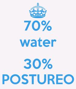 Poster: 70% water  30% POSTUREO