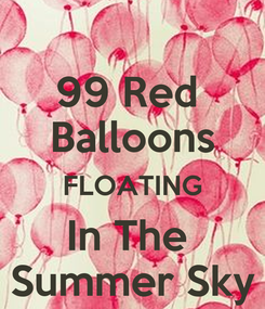 Poster: 99 Red  Balloons FLOATING In The  Summer Sky