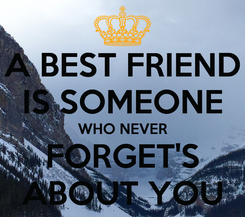 Poster: A BEST FRIEND IS SOMEONE WHO NEVER FORGET'S ABOUT YOU