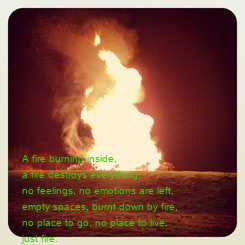 Poster: A fire burning inside,