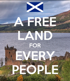 Poster: A FREE LAND FOR EVERY PEOPLE