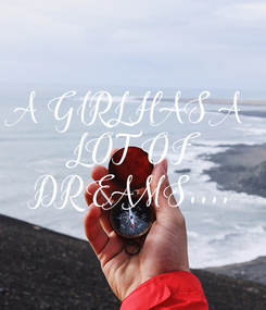 Poster: A GIRL HAS A  LOT OF  DREAMS....
