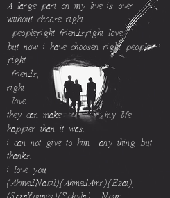 Poster: A large part on my live is over  without choose right  people,right friends,right love. but now i have choosen right people ,right  friends, right  love.  they can make