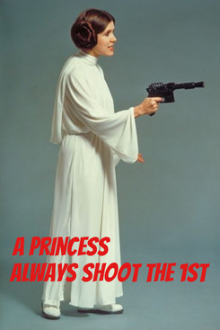 Poster:    A Princess                    always shoot the 1st