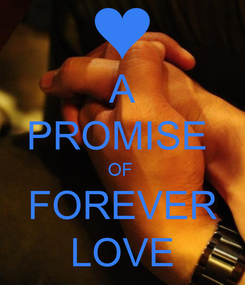 Poster: A PROMISE  OF  FOREVER LOVE