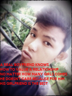Poster: A REAL BOYFRIEND KNOWS 