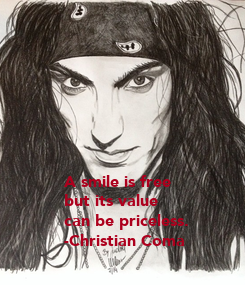 Poster:    A smile is free