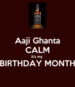 Poster: Aaji Ghanta CALM It's my  BIRTHDAY MONTH
